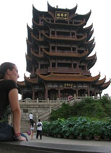 Ines with the Yellow Crane Tower