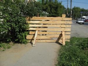 Russian pedestrian safety barrier